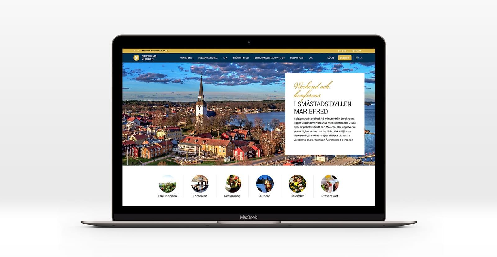 Ny hemsida – Gripsholms Värdshus i Mariefred